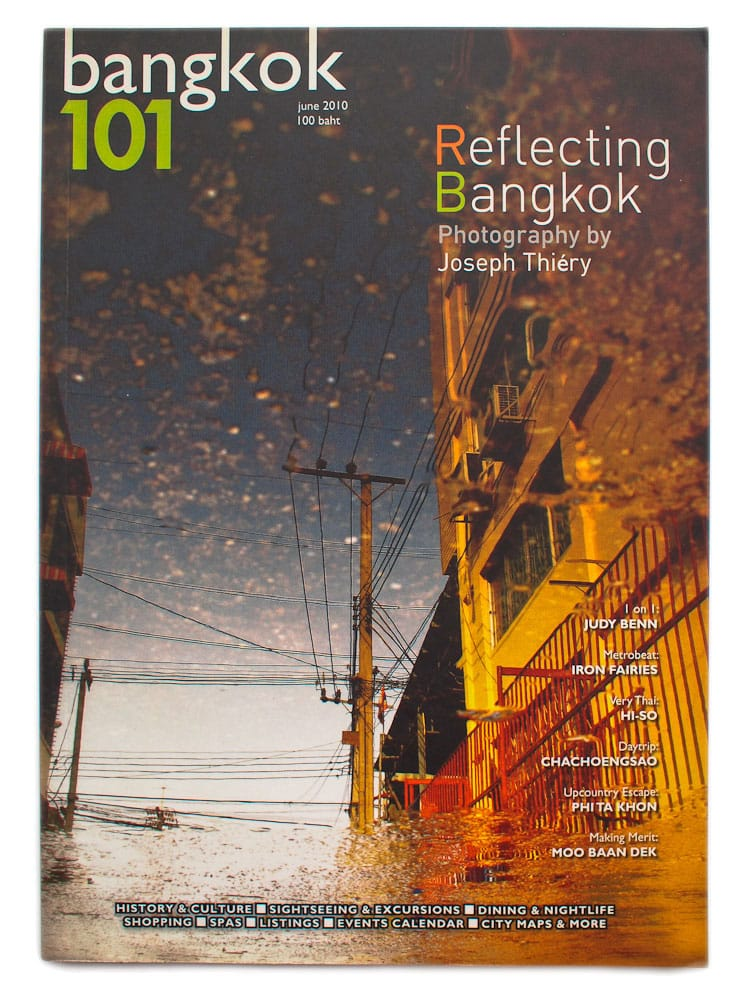 Front cover and featured - Bangkok 101 magazine